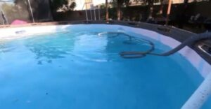 prepare the pool for sand filter